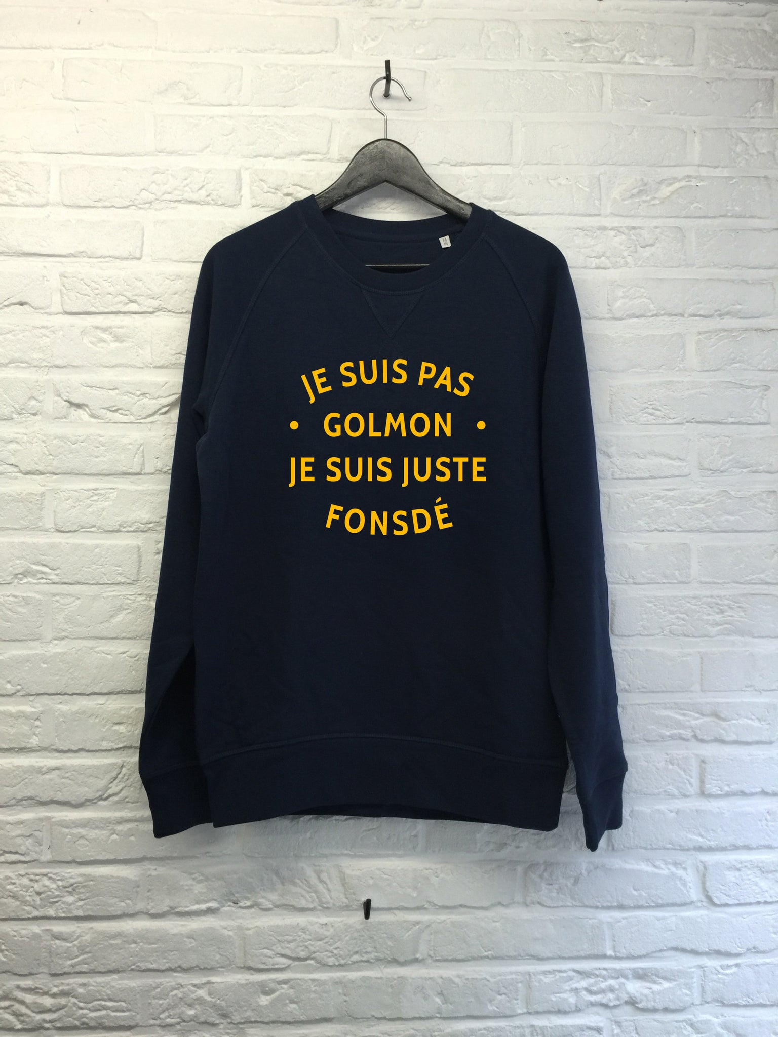 Je suis pas golmon - Sweat Deluxe - Navy-Sweat shirts-Atelier Amelot