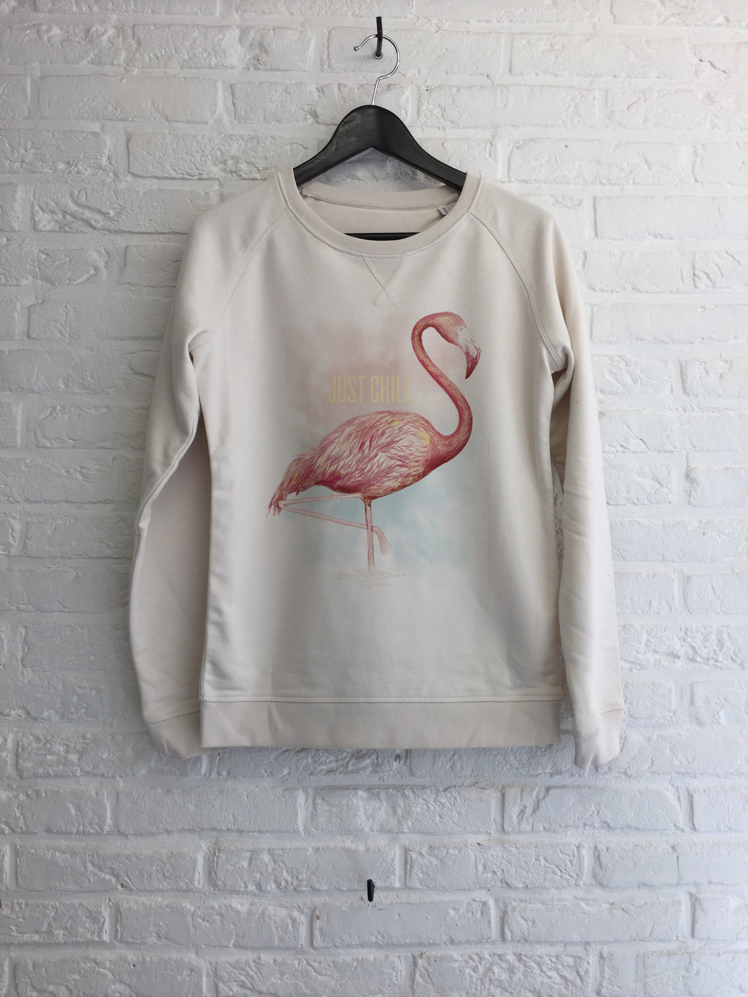 TH Gallery - Flamant Just Chill - Sweat - Femme-Sweat shirts-Atelier Amelot