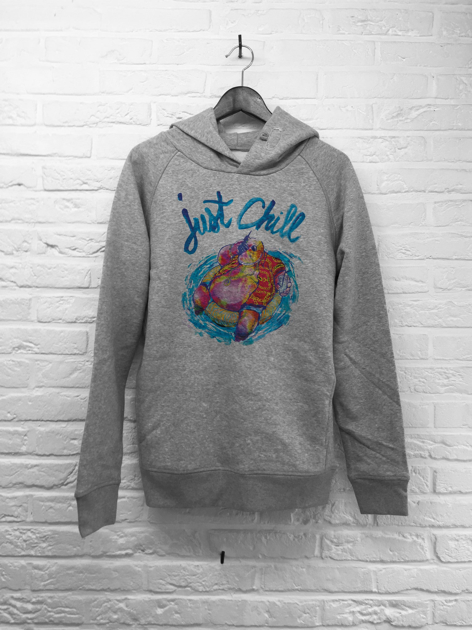 TH Gallery - Hippo Just chill - Hoodie Deluxe-Sweat shirts-Atelier Amelot