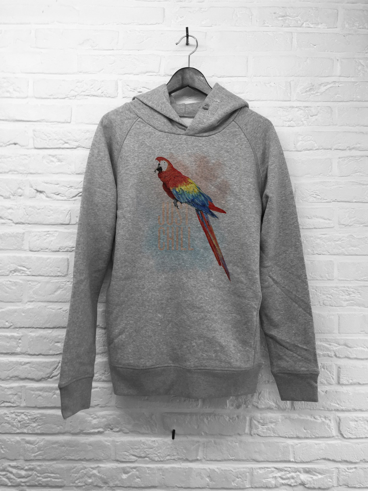 TH Gallery - Perroquet Just chill - Hoodie Deluxe-Sweat shirts-Atelier Amelot