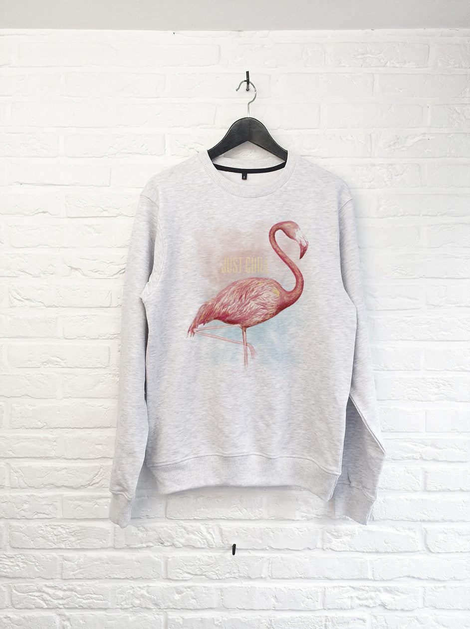 TH Gallery - Flamant rose Just Chill - Sweat-Sweat shirts-Atelier Amelot