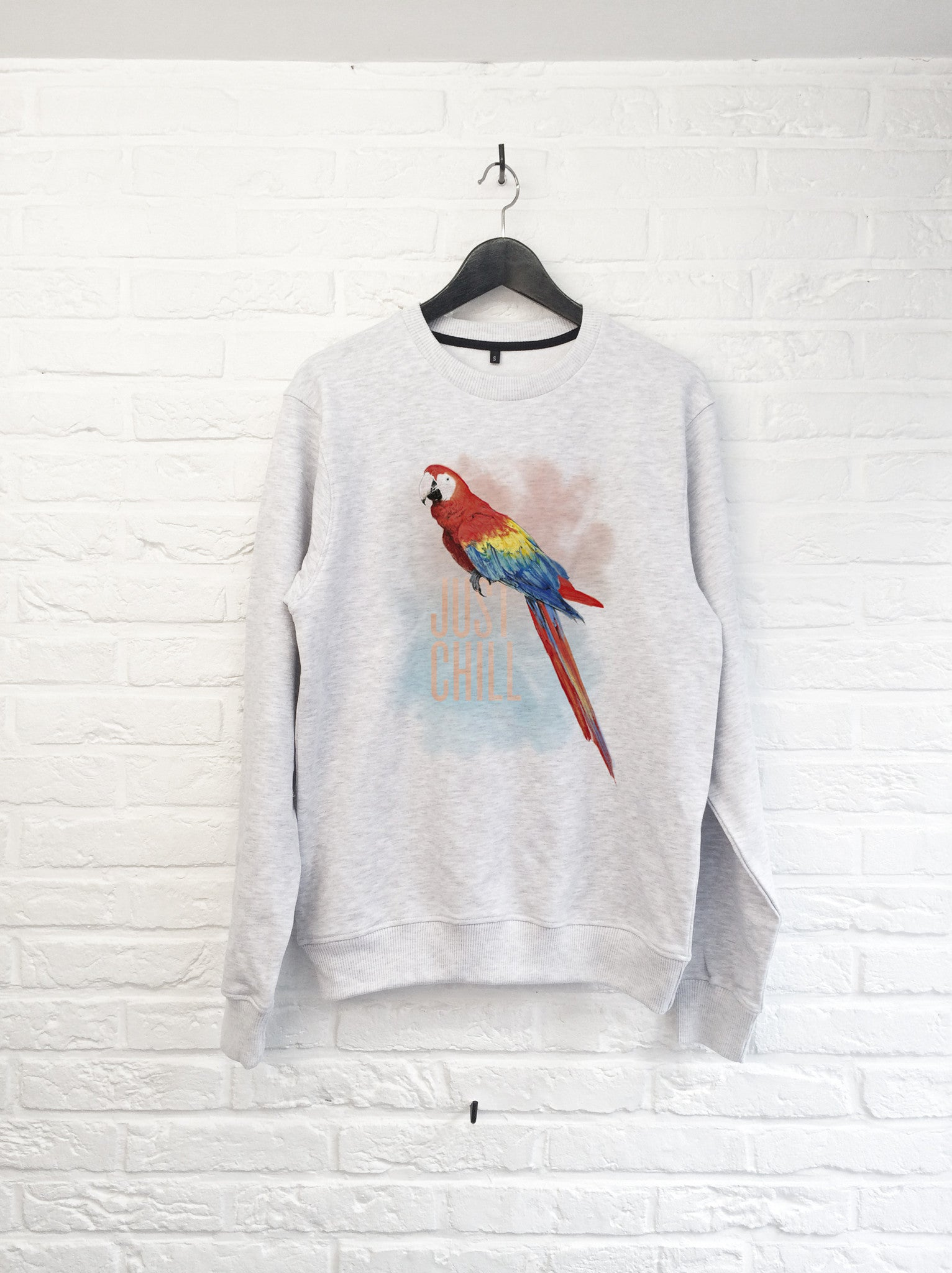 TH Gallery - Perroquet just chill - Sweat-Sweat shirts-Atelier Amelot