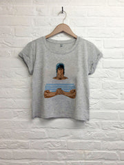 TH Gallery - Ken J.P.G  - Crop Top gris