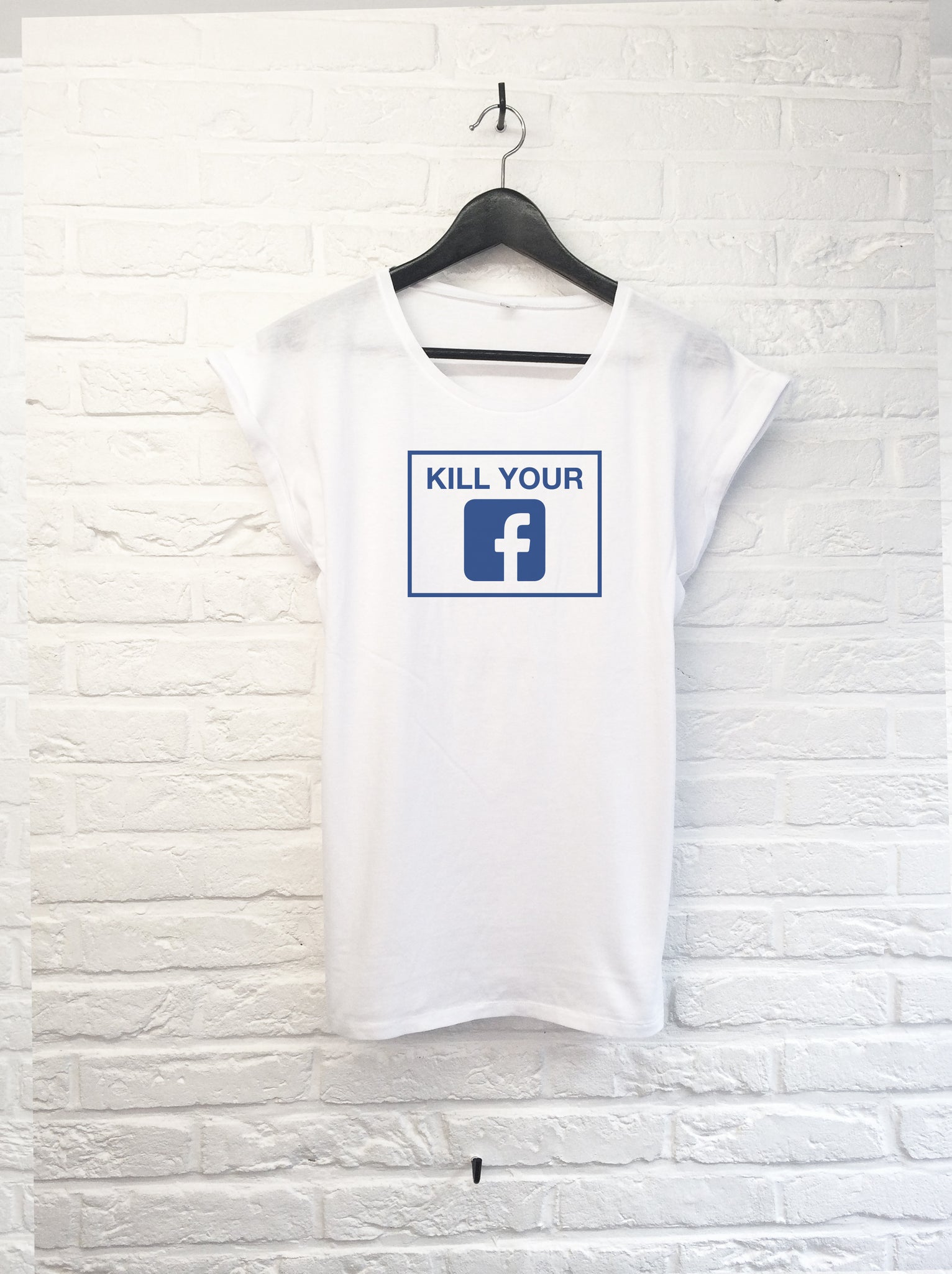 Kill your facebook - Femme-T shirt-Atelier Amelot