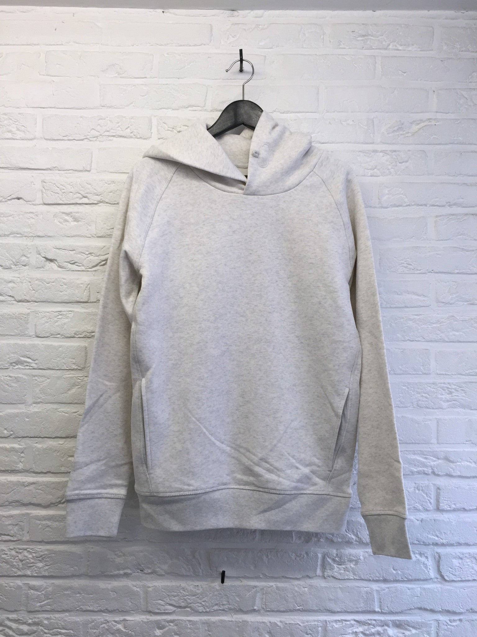 Hoodie blanc chiné-Sweat shirts-Atelier Amelot