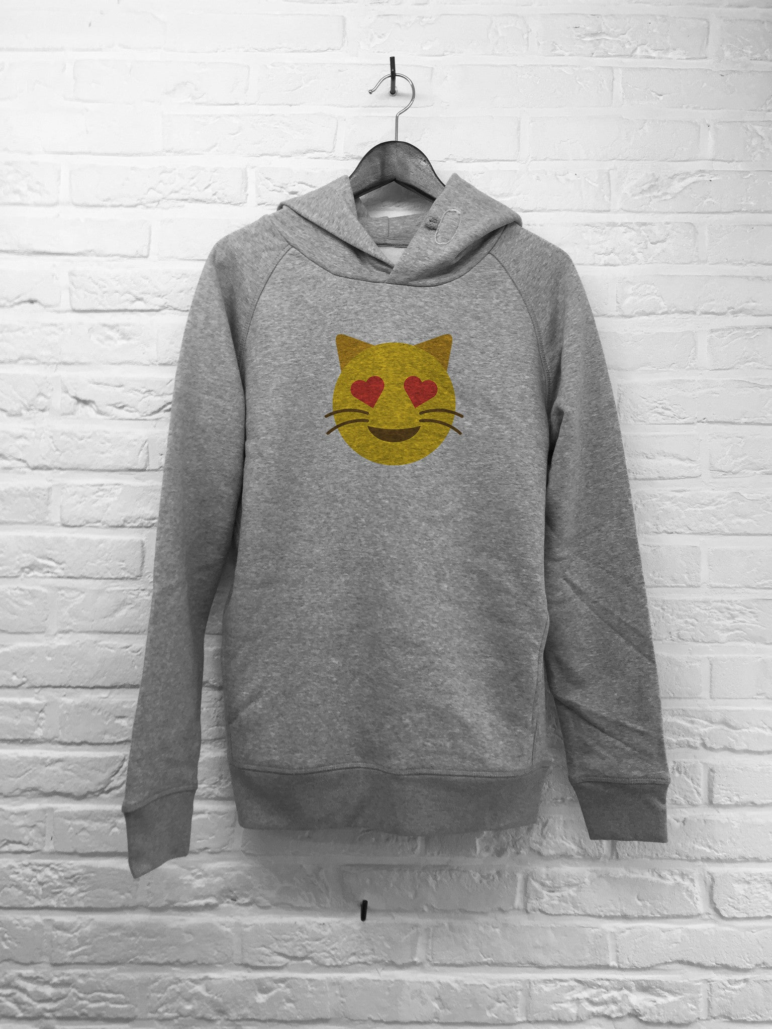 Chat coeur - Hoodie Deluxe-Sweat shirts-Atelier Amelot