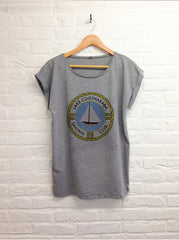 Lake Cootharaba - Femme gris-T shirt-Atelier Amelot