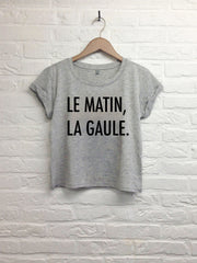 Le matin, la gaule  - Crop top speckled grey