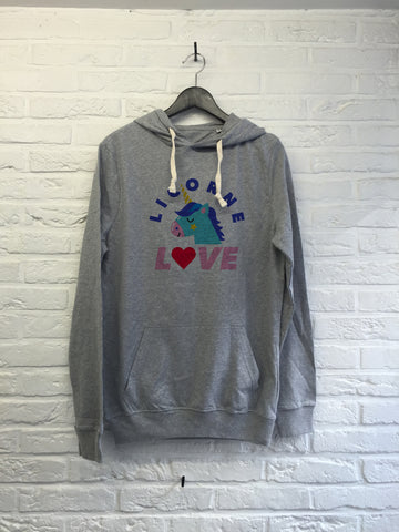 Licorne Love - Hoodie super soft touch