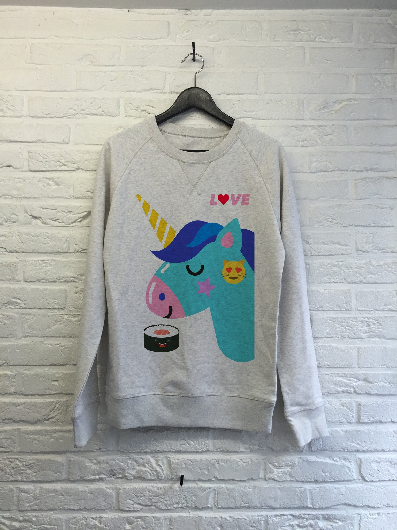 Love Licorne Sushi - Sweat Deluxe-Sweat shirts-Atelier Amelot