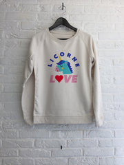 Licorne Love - Sweat - Femme-Sweat shirts-Atelier Amelot