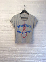 TH Gallery - Mauvaise Réputaion - Crop top speckled Grey-T shirt-Atelier Amelot