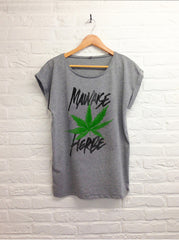 TH Gallery - Mauvaise herbe - Femme gris-T shirt-Atelier Amelot