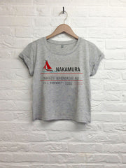 Nakamura - Crop top speckled grey-T shirt-Atelier Amelot