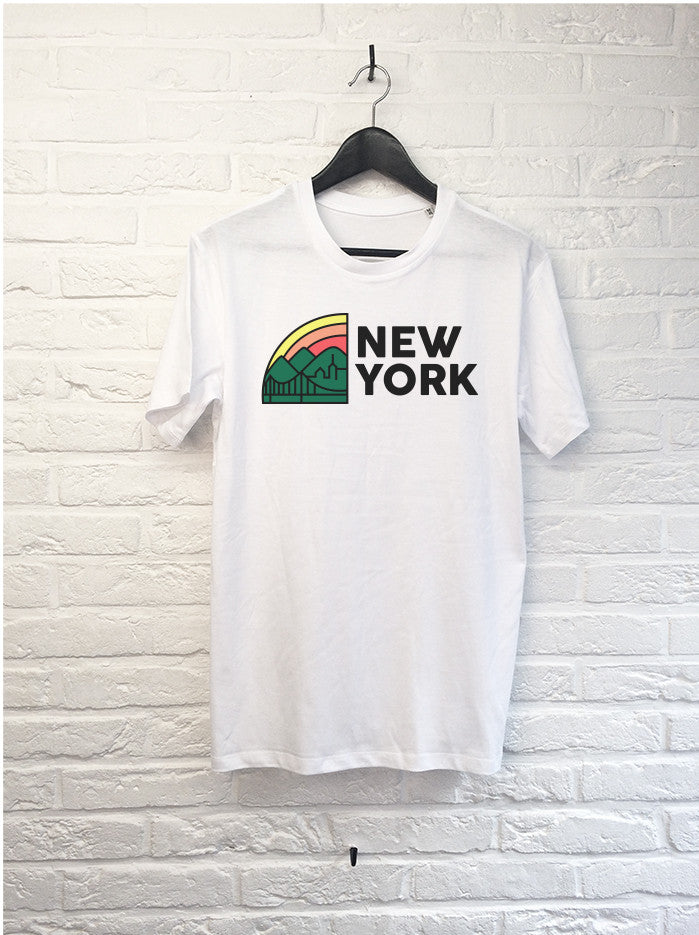New York Rainbow-T shirt-Atelier Amelot