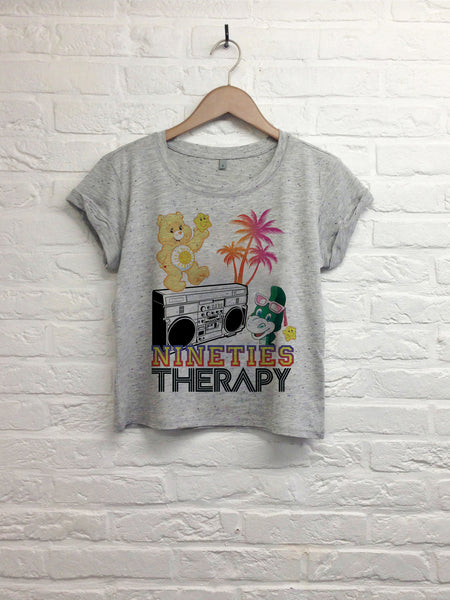 Nineties Therapy - Crop top speckled grey
