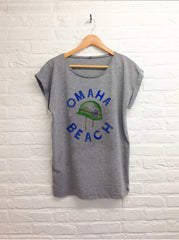 TH Gallery - Omaha Beach - Femme Gris-T shirt-Atelier Amelot