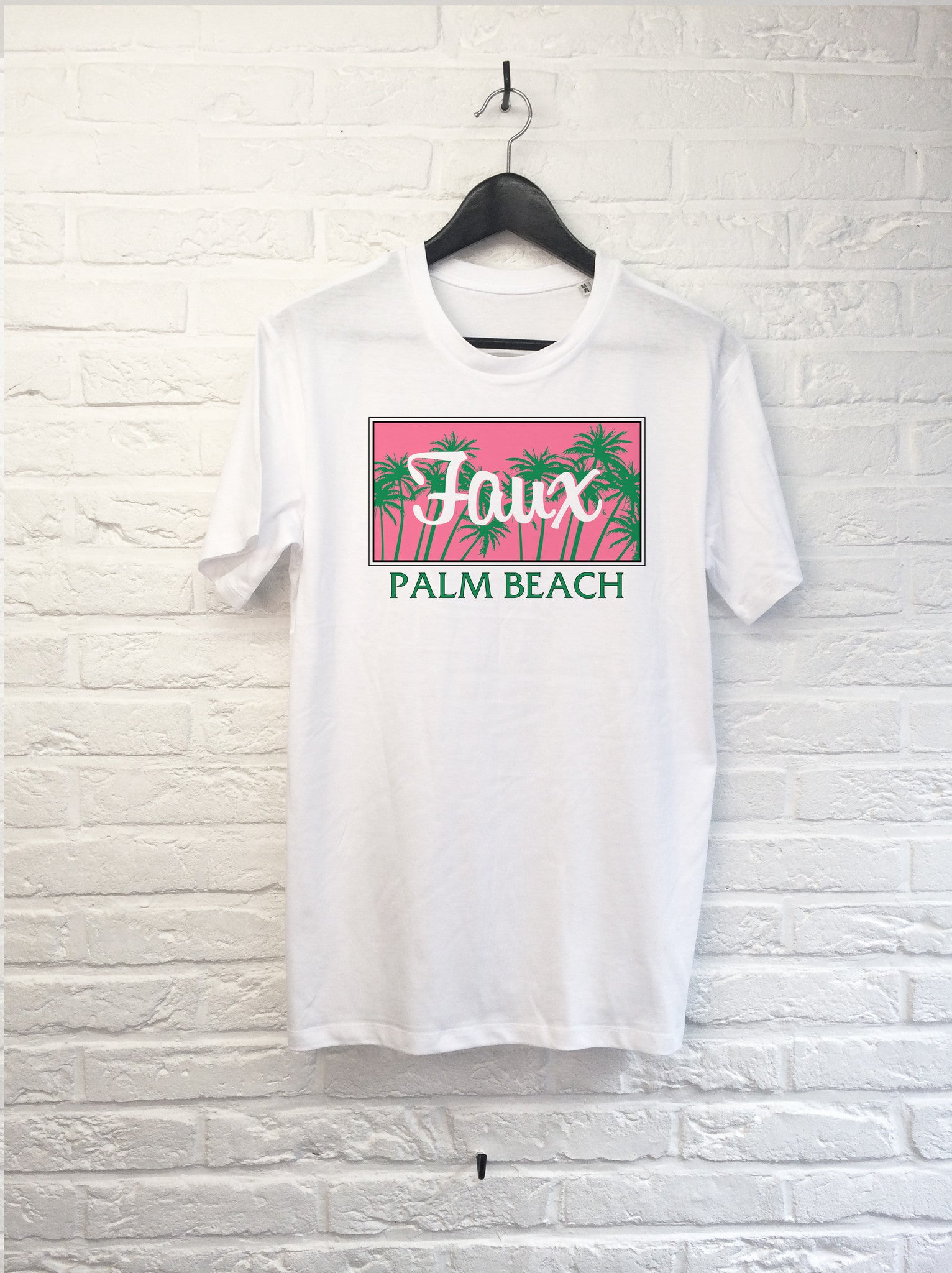 Palm Beach Rose-T shirt-Atelier Amelot