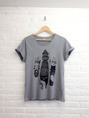 TH Gallery - Pattern Arm - Femme gris-T shirt-Atelier Amelot