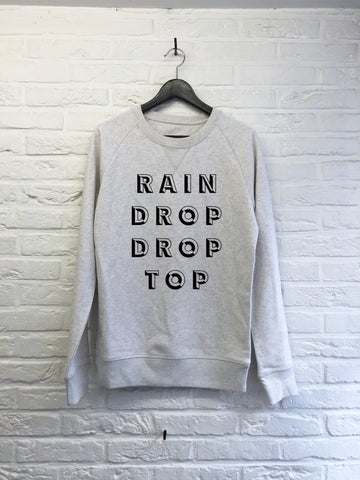 Rain drop drop top - Sweat Deluxe-Sweat shirts-Atelier Amelot