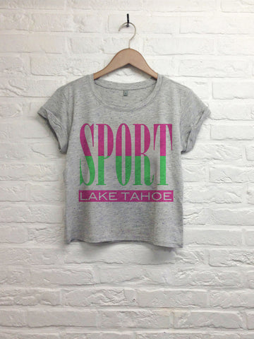 Sport lake tahoe - Crop top speckled grey