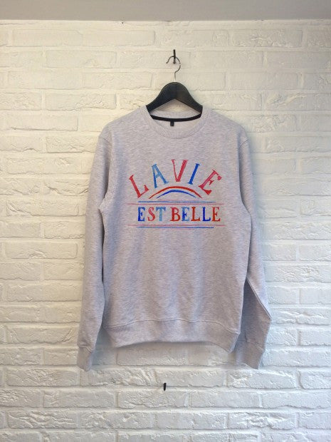 TH Gallery - La vie est Belle (rouge bleu) - Sweat-Sweat shirts-Atelier Amelot