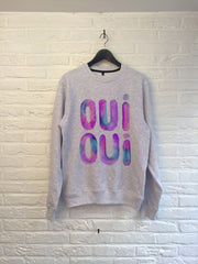 TH Gallery - Oui Oui (violet) - Sweat-Sweat shirts-Atelier Amelot