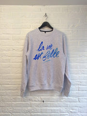 TH Gallery - La vie est Belle (bleu) - Sweat-Sweat shirts-Atelier Amelot