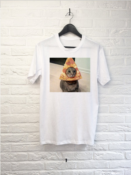 Chat Pizza-T shirt-Atelier Amelot