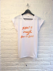 TH Gallery -Flying to Charles De Gaulle - Femme-T shirt-Atelier Amelot