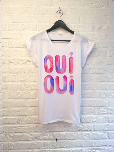 TH Gallery - Oui Oui (rose) - Femme-T shirt-Atelier Amelot