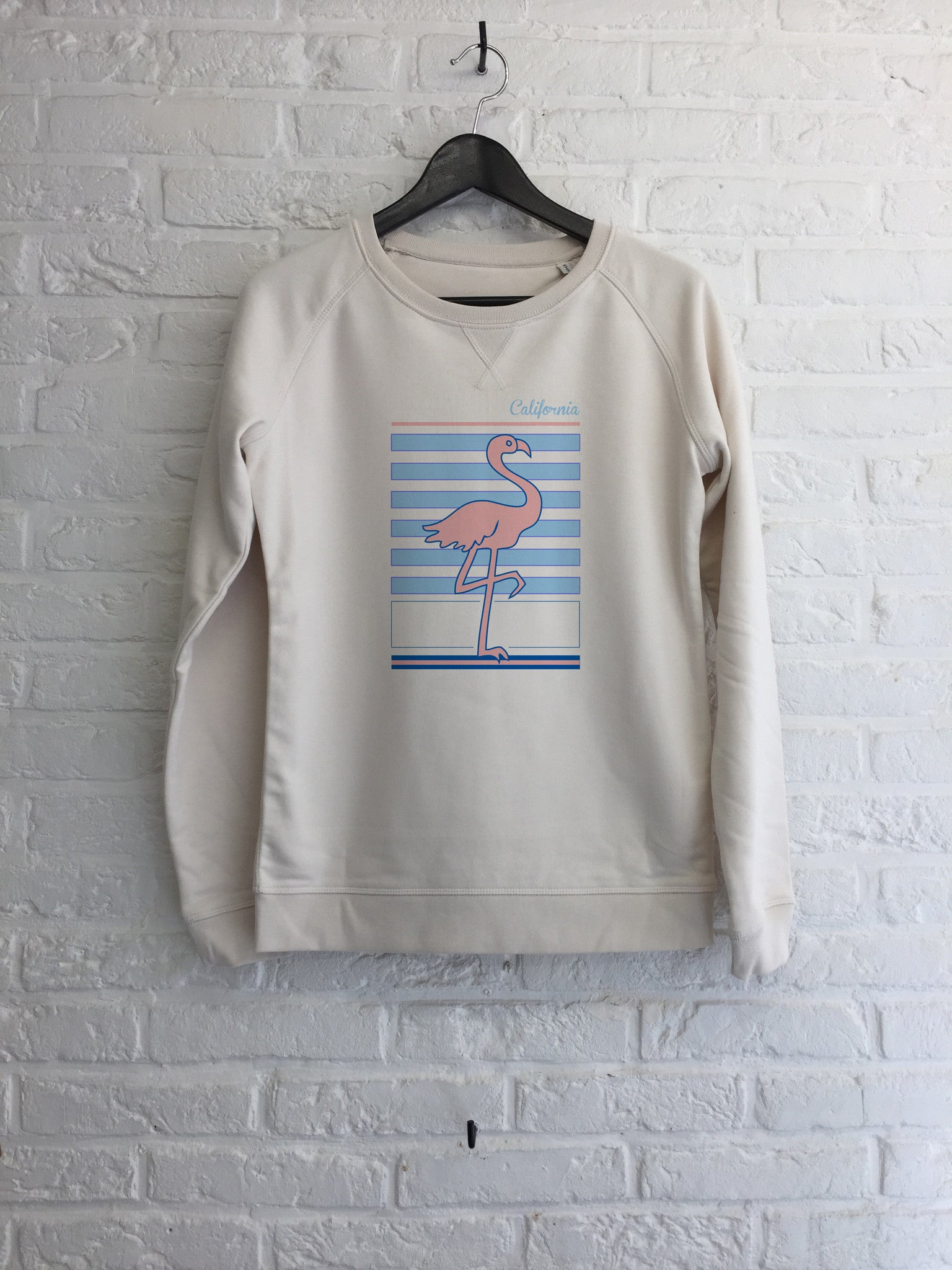 Flamant rose california - Sweat Femme-Sweat shirts-Atelier Amelot