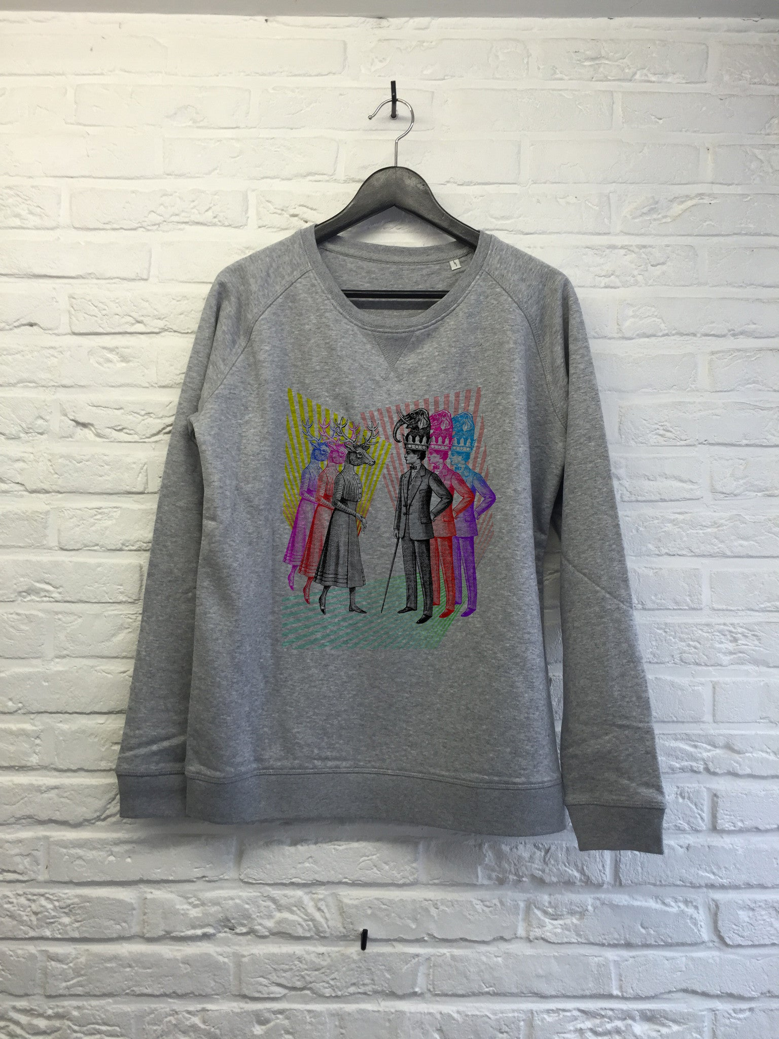 TH Gallery - Animals couple - Sweat - Femme-Sweat shirts-Atelier Amelot