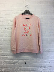 Neon red wolf - Sweat Femme-Sweat shirts-Atelier Amelot