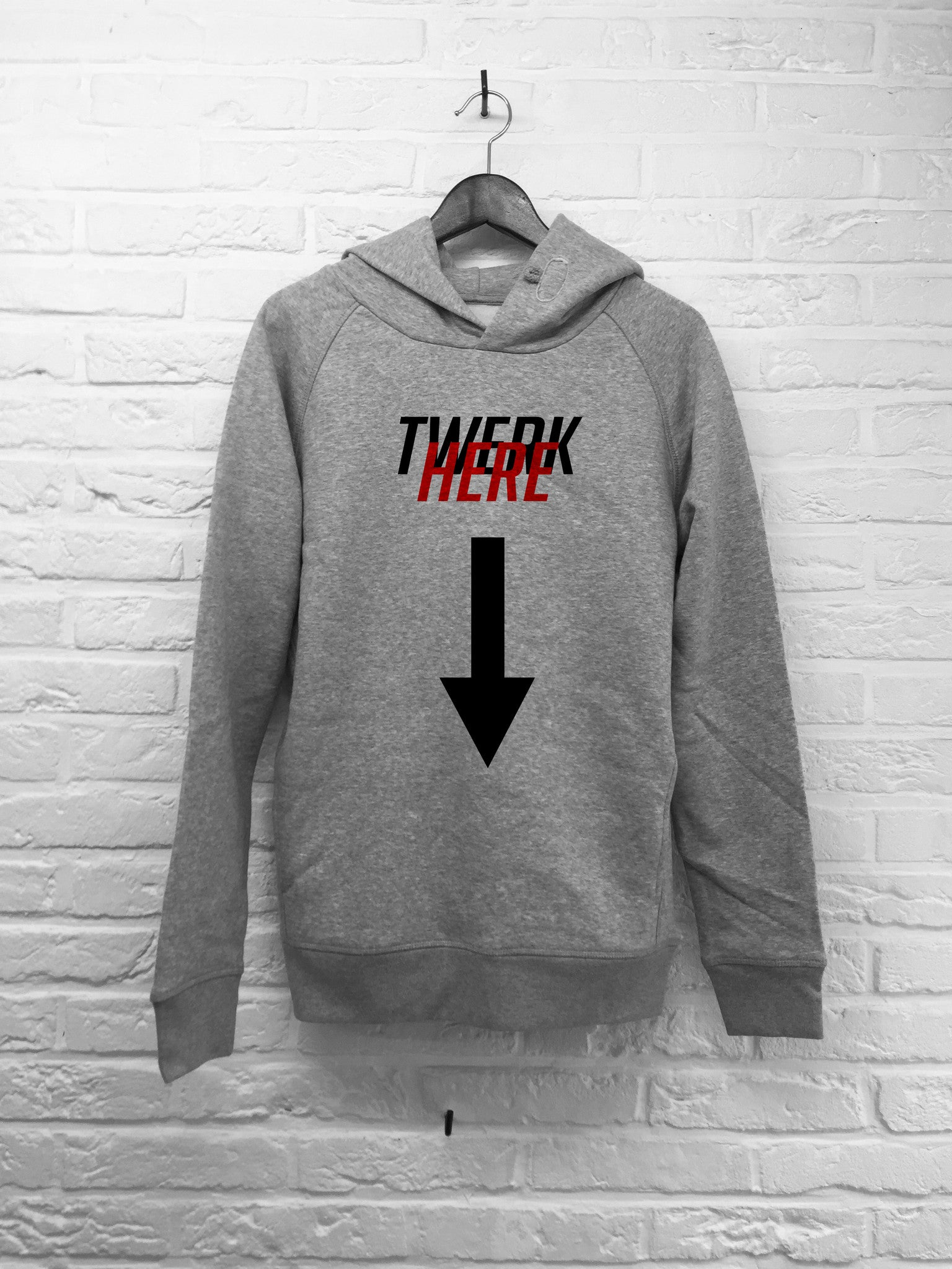 Twerk Here - Hoodies Deluxe-Sweat shirts-Atelier Amelot