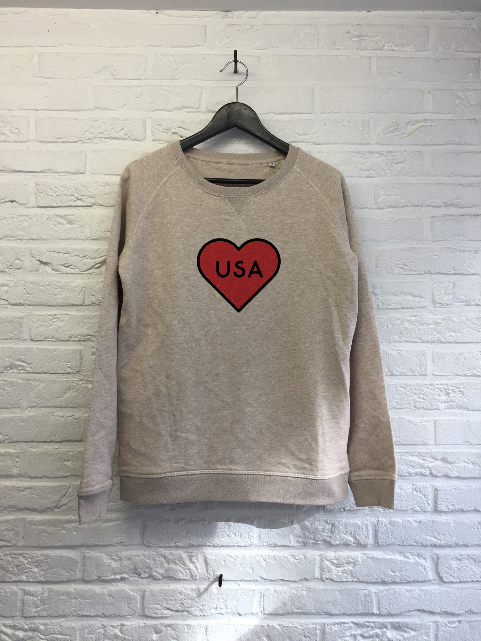 USA Heart - Sweat - Femme-Sweat shirts-Atelier Amelot
