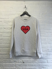 USA Heart - Sweat Deluxe-Sweat shirts-Atelier Amelot