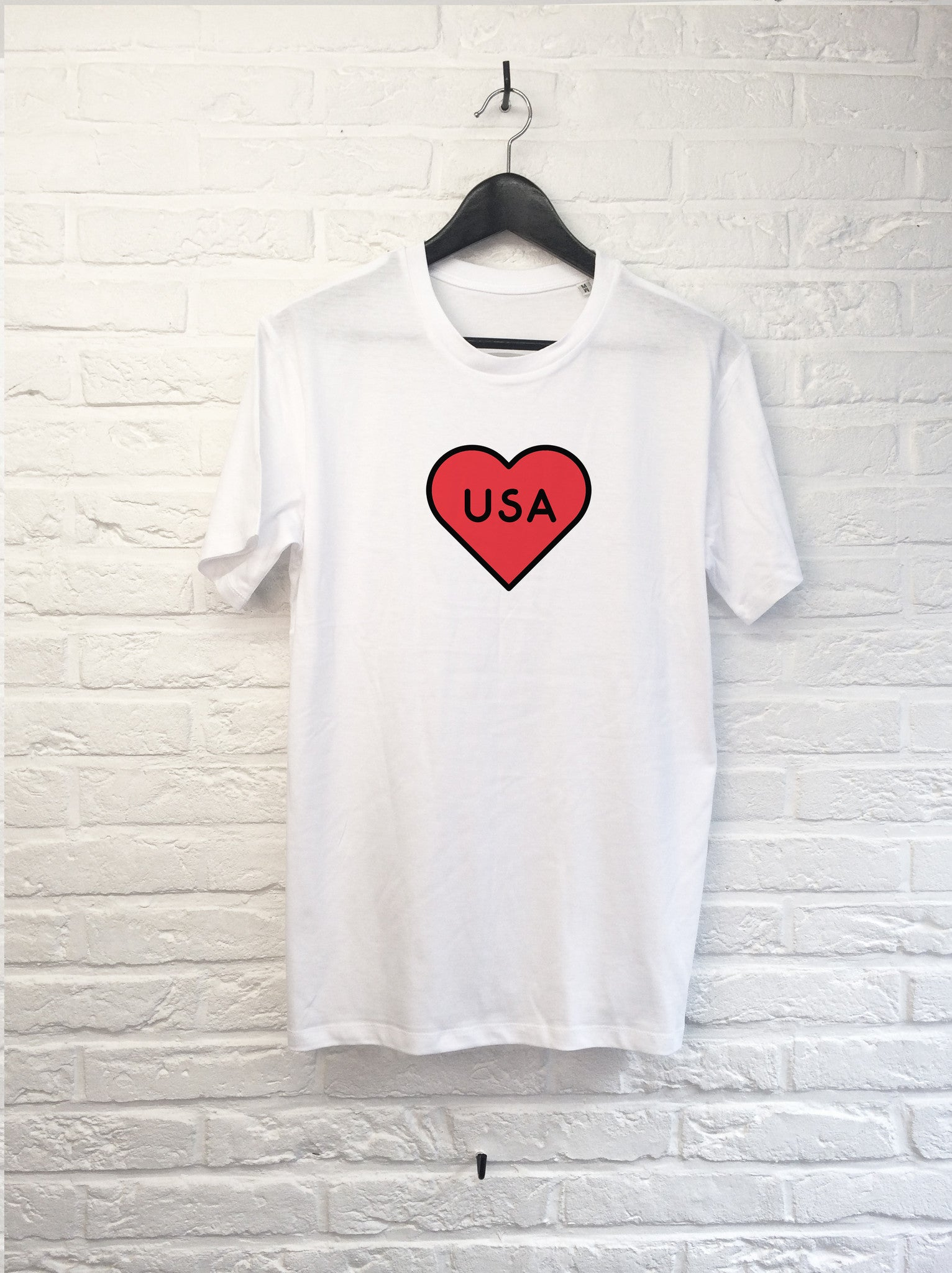 USA Heart-T shirt-Atelier Amelot