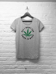 All I want for xmas is weed - Femme - Gris-T shirt-Atelier Amelot