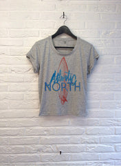 TH Gallery - Atlantic North - Crop Top speckled Grey-T shirt-Atelier Amelot