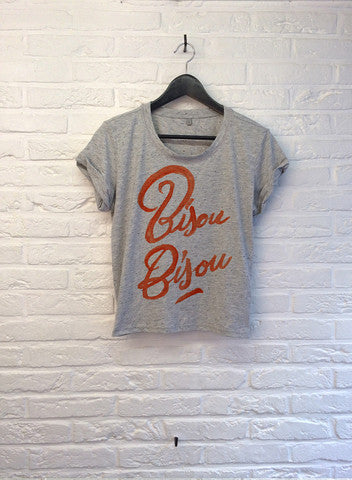 TH Gallery - Bisou Bisou - Crop top speckled Grey-T shirt-Atelier Amelot