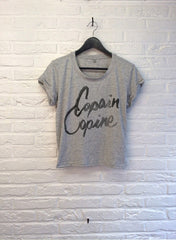 TH Gallery - Copain Copine - Crop top speckled Grey-T shirt-Atelier Amelot