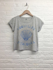 Th gallery - Coquille saint jacques  - Crop Top gris
