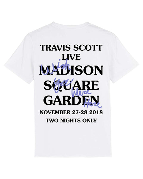 T shirt Astroworld Madison Square Garden Wish you were here