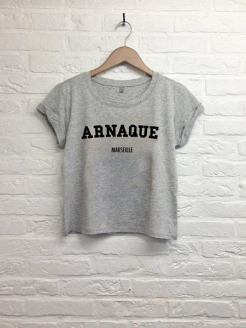 Arnaque Marseille - Crop Top Grey-T shirt-Atelier Amelot