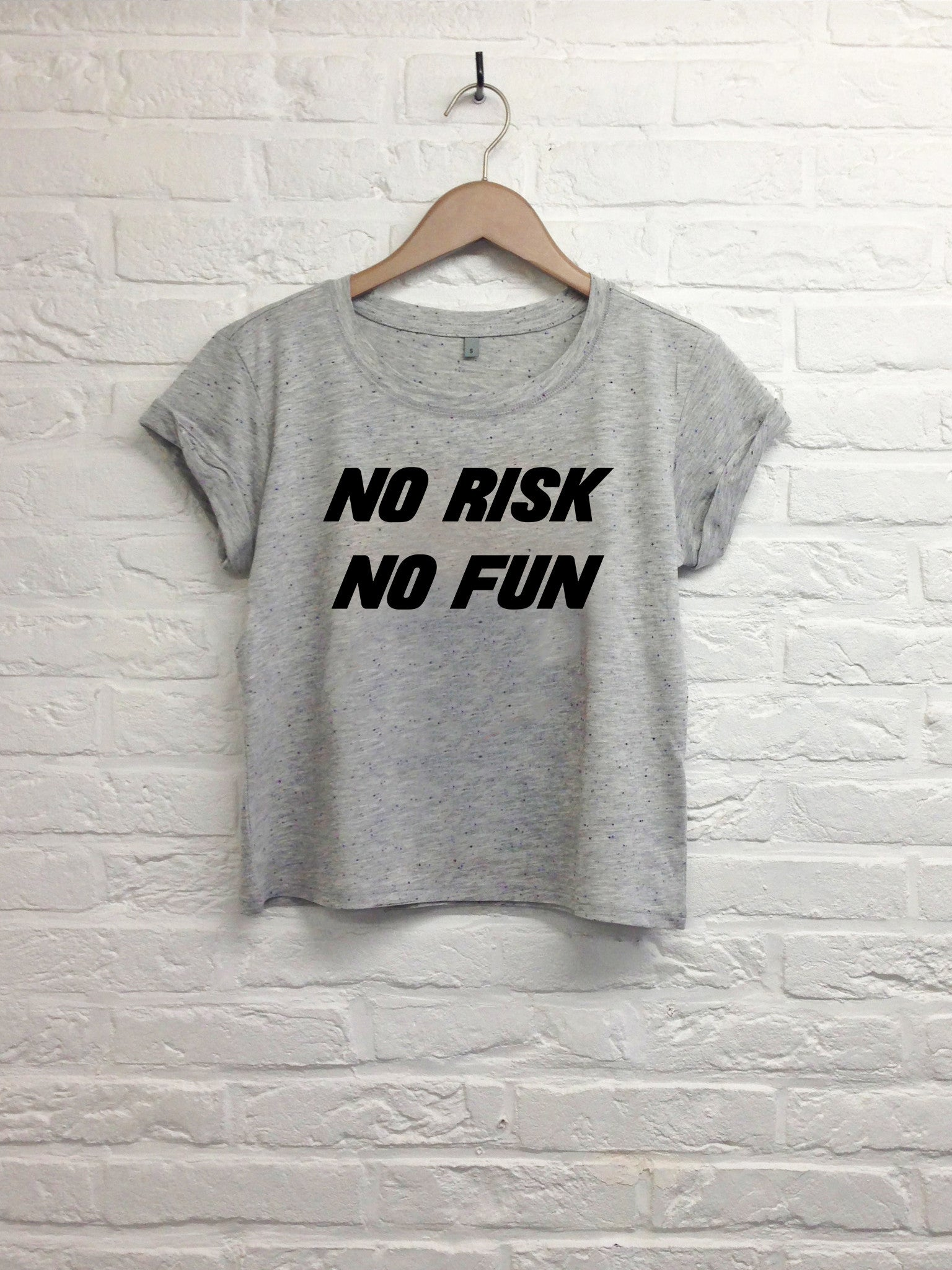 No risk No fun - Crop Top-T shirt-Atelier Amelot
