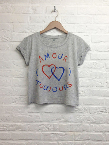 TH Gallery - Amour toujours - Crop top Gris-T shirt-Atelier Amelot