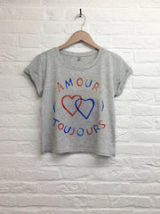 TH Gallery - Amour toujours - Crop top Gris