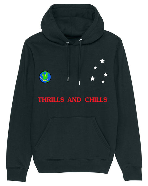 Hoodie Thrills and Chills Out of this world Black