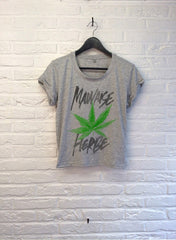 TH Gallery - Mauvaise Herbe - Crop top speckled Grey-T shirt-Atelier Amelot